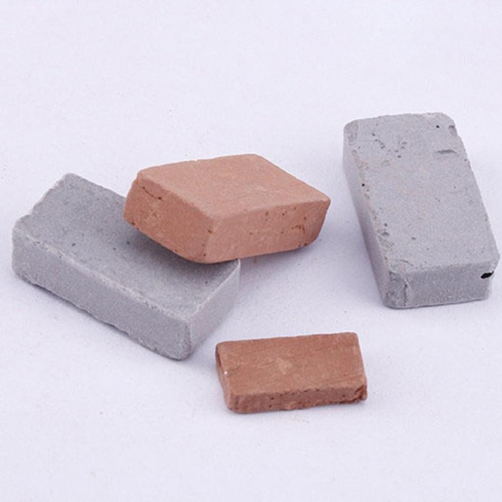 Kindergarten Children Diy Manual Lesson Sand Table Building Model Brick Building House Simulation Mini Red Brick Green Tile