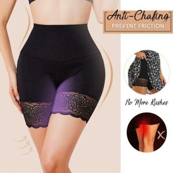 Anti-Chafing Ice Silks Thigh Saver High Waist Hips Up Shapewear Tummy Control -MX8 1