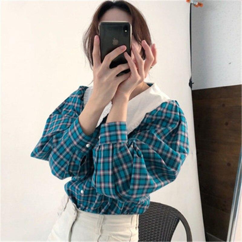 Купить новинка рубашка в стиле ретро для ранней осени клетчатая популярного