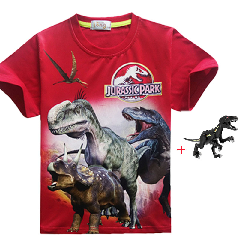 Jurassic Park Foliage Unisex Toddler T Shirt for Boys and Girls