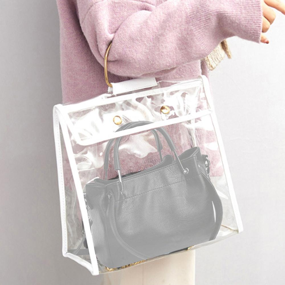 Transparent Dustproof Purse Wallet Storage Bag Organizer Holder Handbag Pouch Transparent, Dust Proof, Storage Bag hot sales!!!!