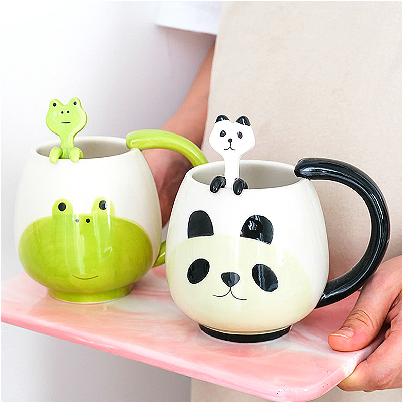 Милые детские кружки для завтрака панда Медведь лягушка чашки различной формы керамические кофейные чашки офисная чашка для воды сока кухонная посуда сувенир|Кружки|   | АлиЭкспресс