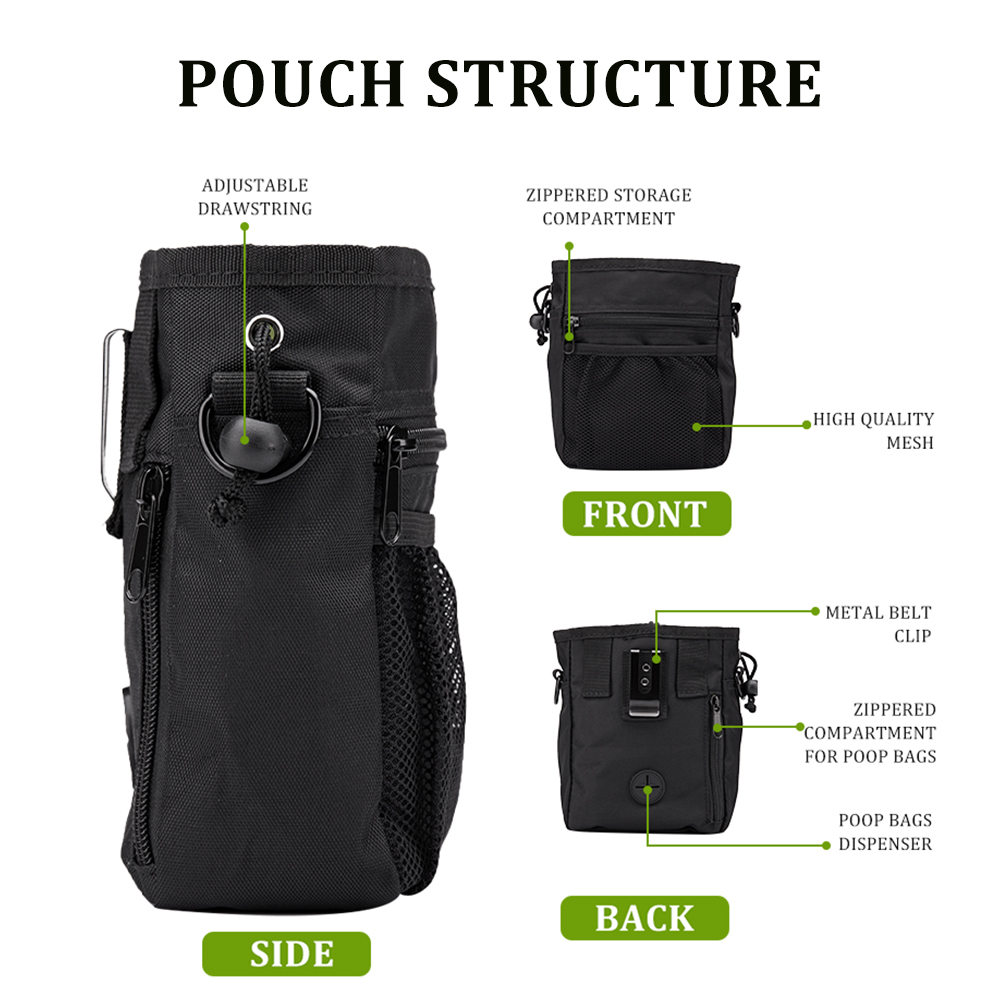 Pet Dog Training Treat Snack Bait Portable Pet Feed Pocket Pouch Waist Back Outdoor Pouch Food Bag Dogs Snack Bag Pack 6