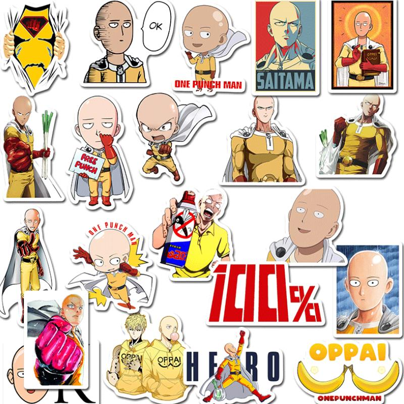 49pcs/pack Cute Animation ONE PUNCH MAN Sticker Scrapbooking Stickers Decor Label Diary Album Stickers Classic Toys Gift