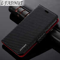 L-FADNUT Pour iPhone X Étui Xr Xs 11 Pro Max D'affaires De Luxe Flip Portefeuille Fente Pour Carte En Cuir étui pour iPhone 7 Plus 8 6S 6 5 5S SE