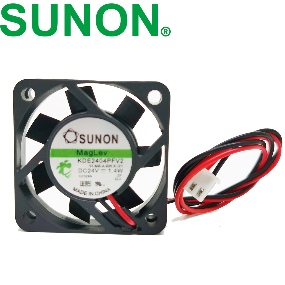 For SUNON KDE2404PFV2 4010 4CM 24V 1.4W 2pin Mute Maglev Cooling Fan 40X40X10MM