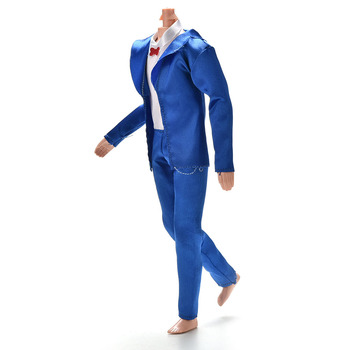 1 Set High Quality Blue Color Coat Shirt Pants Clothes Suit For  Ken Dolls Clothing 1