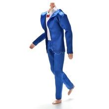1 Set High Quality Blue Color Coat Shirt Pants Clothes Suit For  Ken Dolls Clothing