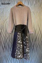 Цельнокроеное платье 2020 осенне зимний стиль женское винтажное