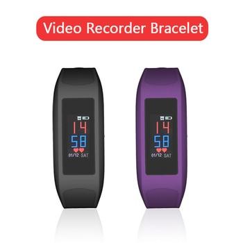 1080P Mini Cam Camera Voice Audio Recorder HD Pen Video Recording Touch Screen Wristband Smart Bracelet Watch Band Class Meeting