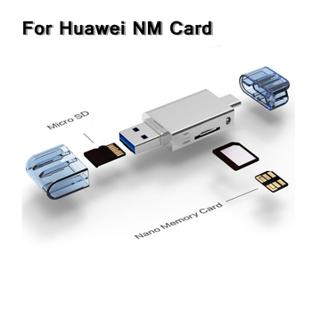 2 In 1 USB3.0 NM Card Reader Type-C to Micro SD/USB Card Reader For Phone/PC Use Nano Memory Card Read For HUAWEI NM Card