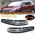 PMFC Автомобильный светодиодный сбоку Зеркало заднего вида сигнала поворота светильник мигает проблесковый маячок лампа для Hyundai Santa Fe Спорт ...