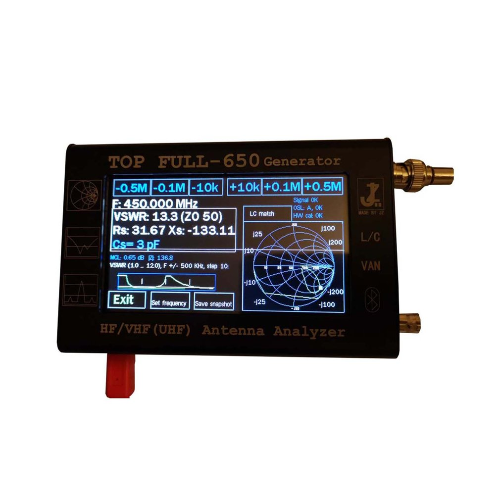 4.3 Touch HF/VHF/UHF LCD 0.1-1300MHz 1.3GHz ANT SWR Vector Antenna Analyzer Meter With 3000mAh Battery