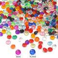 Горячие 1000 шт 4,2/3 мм акриловые бриллиантовые Кристальные прозрачные Конфетти Для Свадьбы Конфетти украшения стола разброса бусины