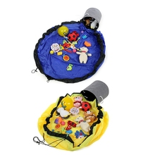 Toy Pouch Storage Clean-Up Bag-Organizer Play-Mat Kids for And Container Drawstring