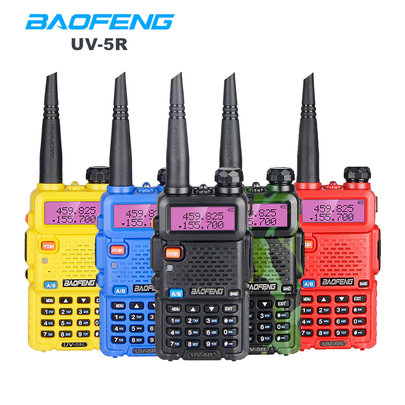 Baofeng UV 5R Walkie Talkie Portable CB Radio Station Dual Band UHF VHF Hunting Ham Radio 5W HF Transceiver UV5R Two Way Radio