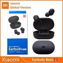 Xiaomi-auriculares inalámbricos Redmi Airdots 2 TWS... versión mundial básicos 2 modos de juego y enlace automático