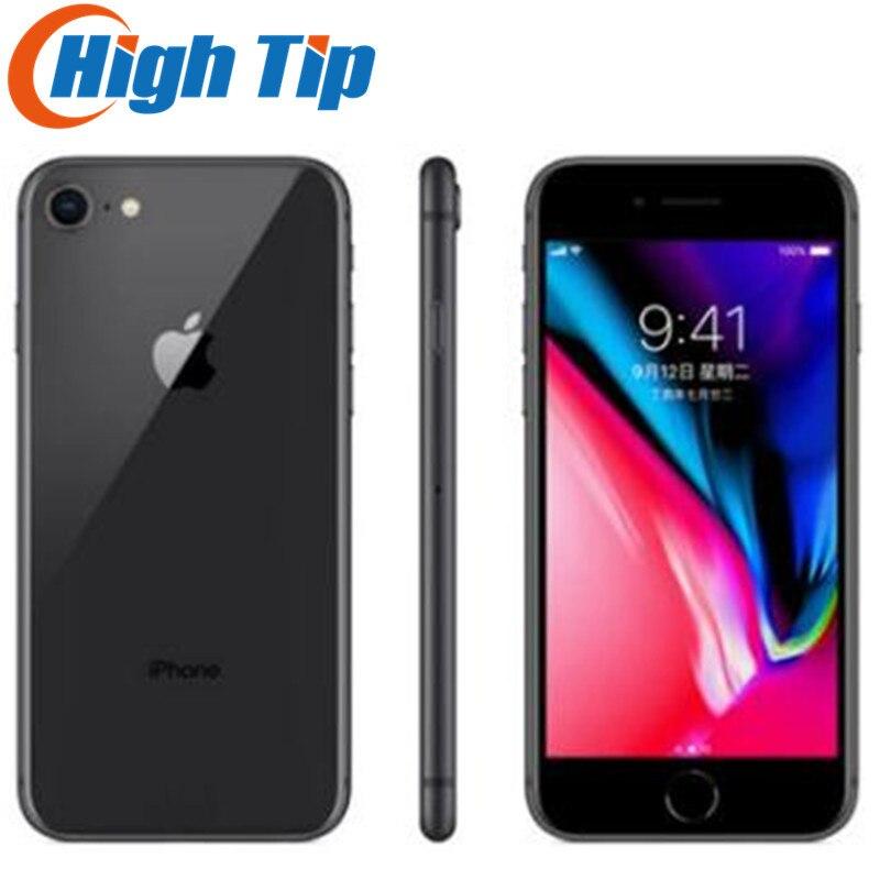 """Apple IPhone 8 için orijinal 2GB RAM 64GB/256GB Hexa çekirdekli 3D dokunmatik kimliği 4G LTE WIFI 12.0MP kamera 4.7 """"parmak izi iphone8 cep telefonu"""
