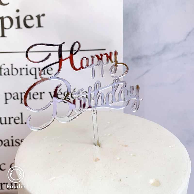 Décoration de gâteau créative 1 pièce | Garniture acrylique de gâteau de joyeux anniversaire pour décor de gâteau de Dessert de joyeux anniversaire, fête licorne d'anniversaire