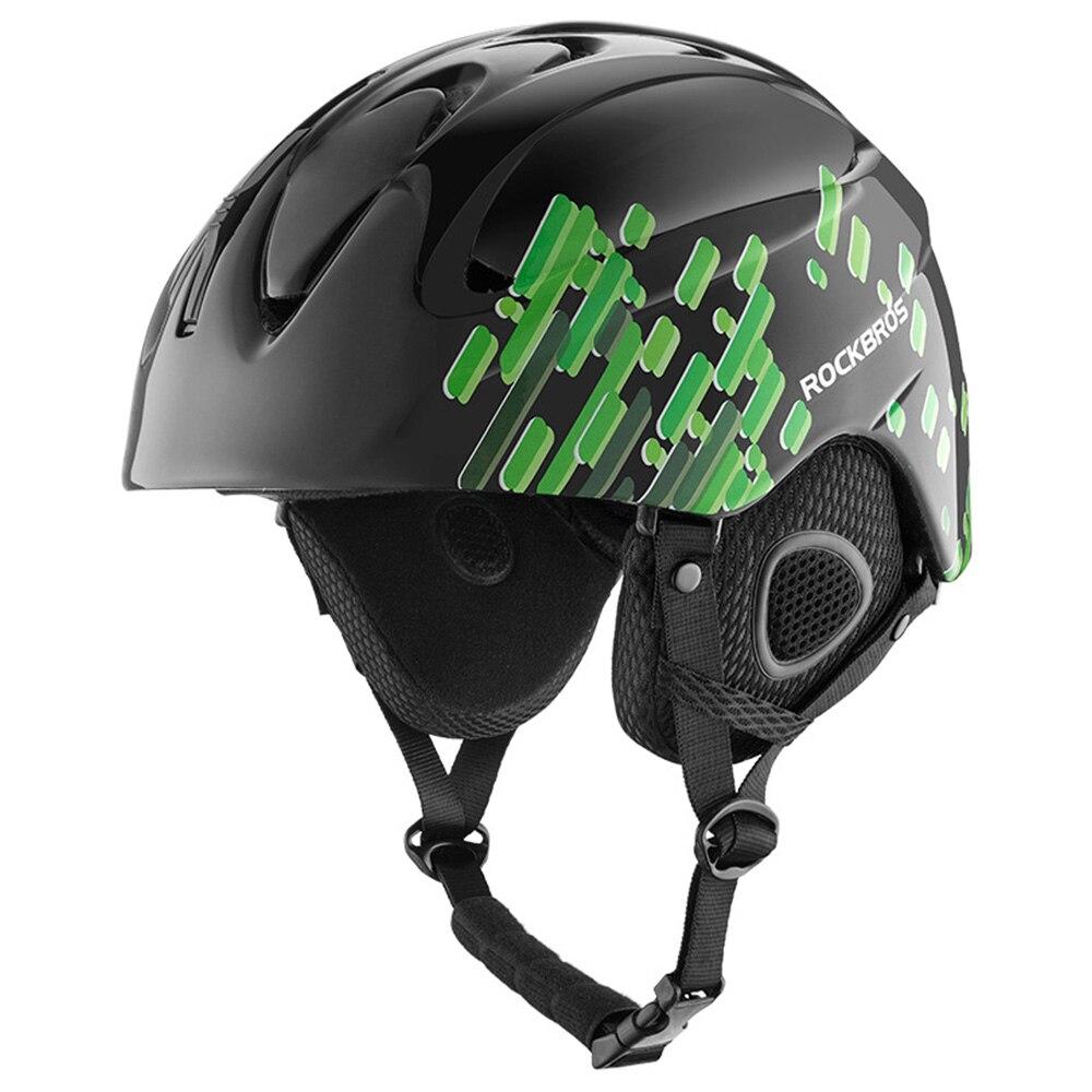 ROCKBORS Bicycle Integrated Molding Ski Helmet Winter Warm Ultra Light Ski Helme