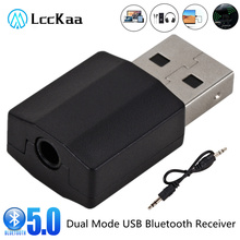 LccKaa Wireless USB Bluetooth 5.0 Transmitter Receiver Mini 3.5mm AUX Stereo Music Adapter For Car Radio TV Bluetooth Earphone