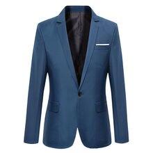 NEW Plus Size Suit Men's Blazers Formal Men's Slim Fit One Button Suit