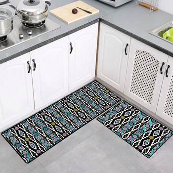 Home Decoration Geometric Crafts Kitchen Mat Anti-slip Waterproof Bathroom Carpet Home Entrance Door Mats Floormat Hallway Rug