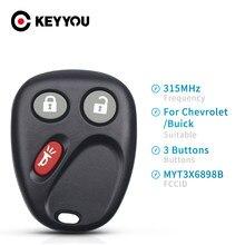 Keyyou fob 315 mhz myt3x6898b 3 botões chave de controle remoto do carro para chevrolet trailblazer para buick rainier para gmc envoy chave do carro