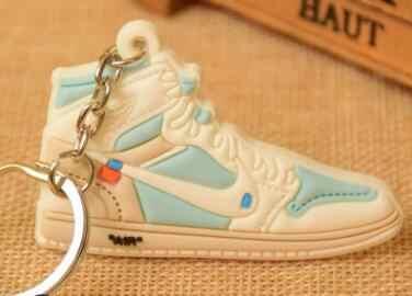 17 цветов, мини Силиконовый 11 брелок для ключей, сумка, шарм, для женщин, мужчин, детей, брелок для ключей, подарки, тапки, держатель для ключей, аксессуары, брелок на ключи в виде обуви