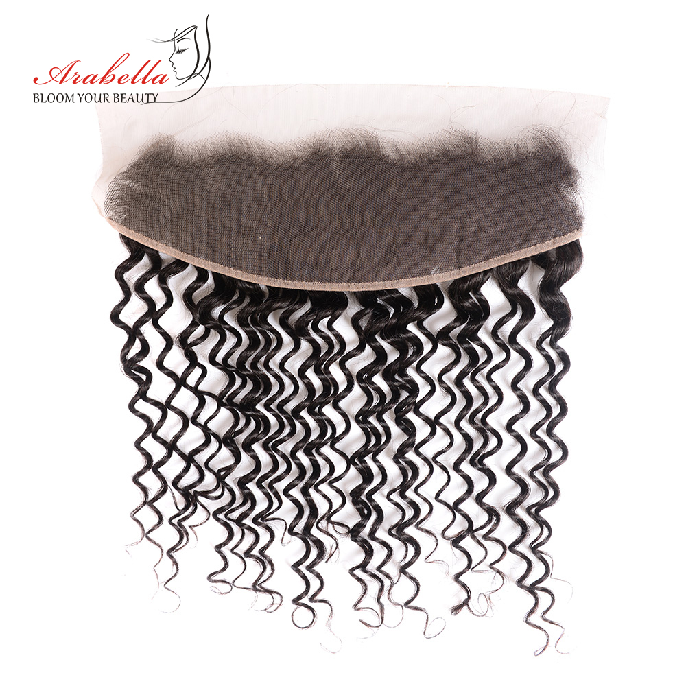 13x4 Lace Frontal Deep Wave Ear To Ear With Baby Hair  Arabella PrePlucked Bleached Knots Lace Frontal Closure 1