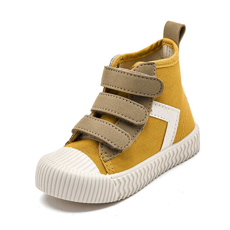 2020 Spring New Children Shoes Baby Korean High-top Biscuit Shoes  Soft Bottom Children's Canvas Shoes