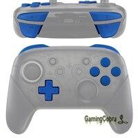 소프트 터치 블루 수리 ABXY D-패드 ZR ZL L R 키 교체 풀 세트 버튼/Nintendo Switch Pro 컨트롤러 용 도구