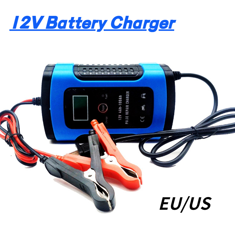 Умное быстрое автомобильное зарядное устройство 12 В 6 А с ЖК-дисплеем для авто мотоцикла свинцово-кислотные AGM гелевые батареи интеллектуал...