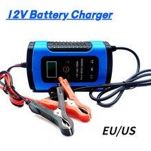 12 V 6A LCD Inteligente Rápido Carregador de Bateria de Carro Para Auto Moto GEL AGM Baterias de Chumbo-Ácido Inteligente De Carregamento 12 V 6 UM AMP Volt