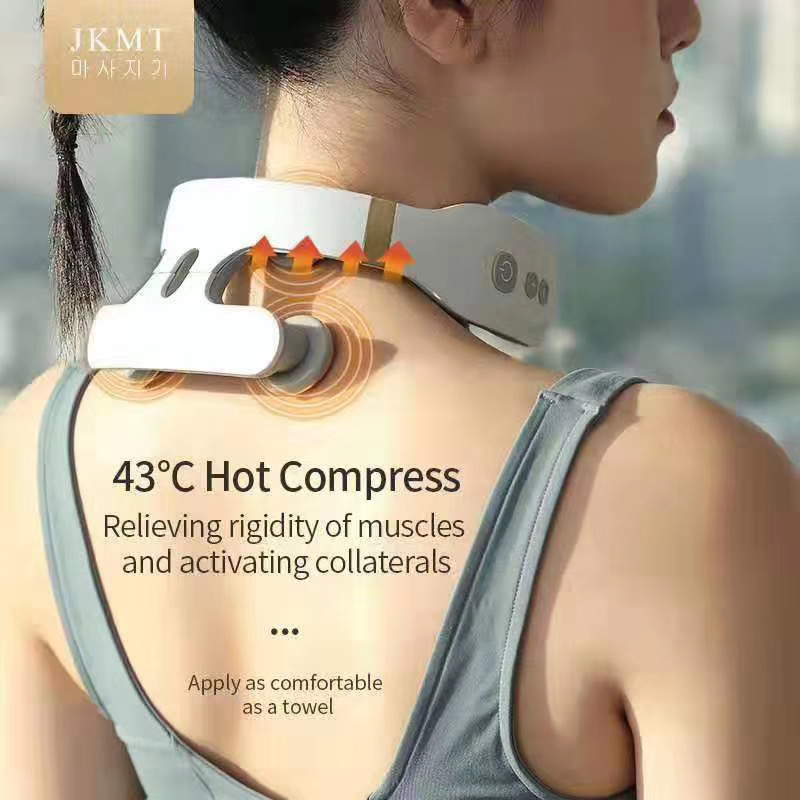 TutewElectric Pulse Back and Neck Massager Far Infrared Heating Pain Relief Tool Health Care Relaxation