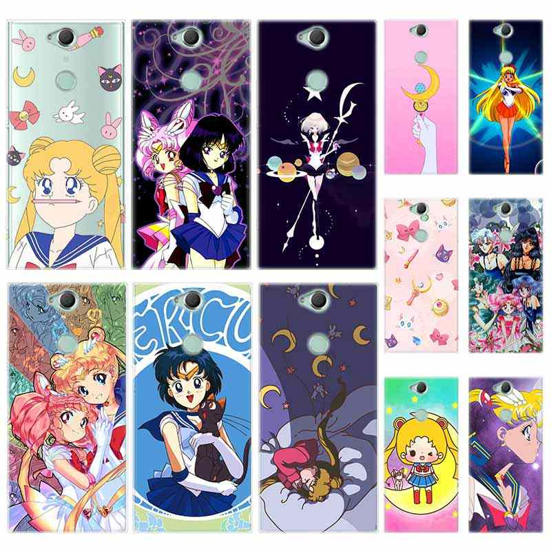 Krzemu TPU Case dla Sony Xperia X XA XA1 XA2 XA3 XZ XZ1 XZ2 XZ3 XZ4 L1 L2 L3 Plus kompas Sailor Moon Cartoon