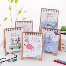Calendar Desktop-Paper Scheduler-Table-Planner Yearly DIY Mini Fresh-Style Forest-Animals