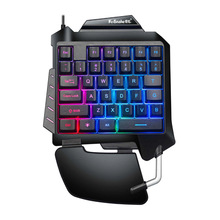 One Handed Mechanical Gaming Keyboard LED Backlight Portable Mini Gaming Keypad Game Controller For PC PS4 Xbox Gamer