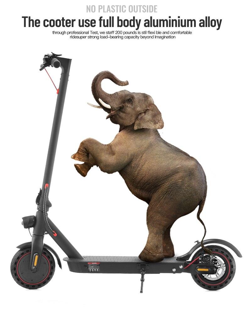 Patinete eléctrico iScooter, Patinete eléctrico, Hoverboard eléctrico plegable inteligente, 350 W, pantalla de visualización de freno electrónico, luz LED - 6