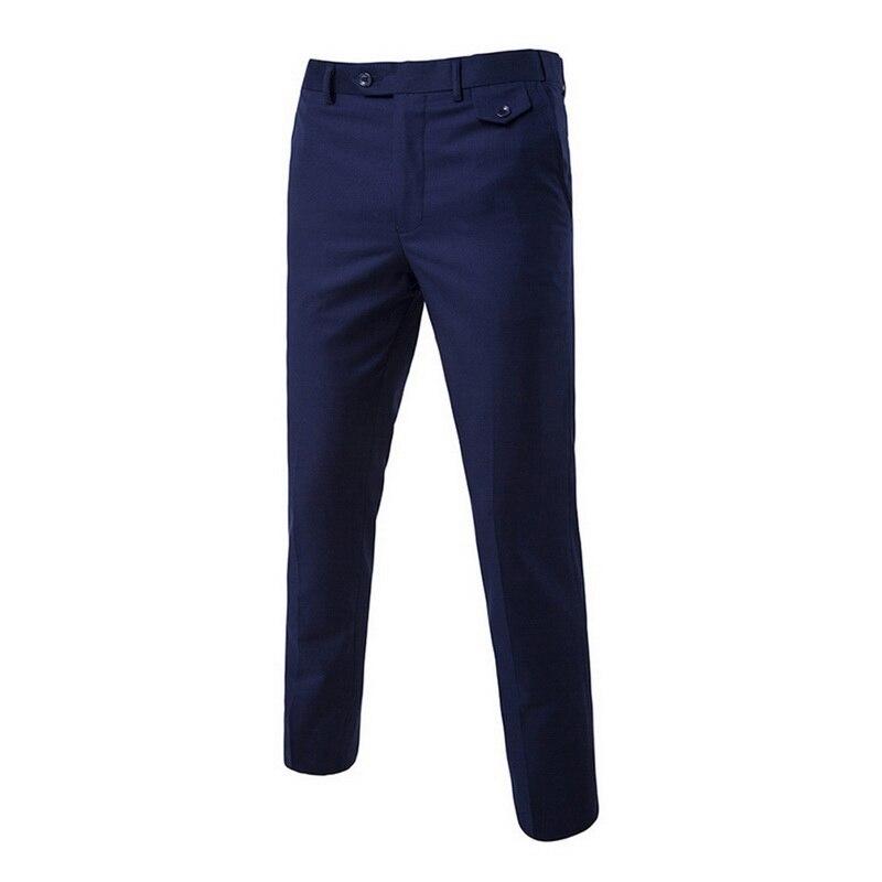 Business Men Trousers Pants Men Casual Elastic Long Male Cotton Solid Straight  Men's Large Size Pants Pantalon Homme