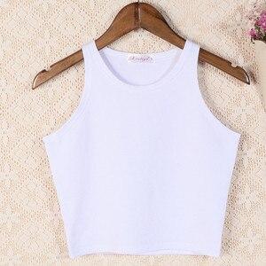 Image 5 - 2020 delle donne di abbigliamento di marca carro armato di disegno tropicale crop top sexy top di fitness maglietta top serbatoi camicia corpo