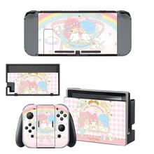 Little Twin Stars Nintendo Switchสติกเกอร์ผิวNintendoSwitchสติกเกอร์สกินสำหรับคอนโซลNintendo SwitchและJoy Con Controller