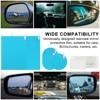 8Pcs set Waterproof Car Window Clear Rearview Mirror Protective Film Sticker Anti Fog Rainproof Protective Auto Accessories promo