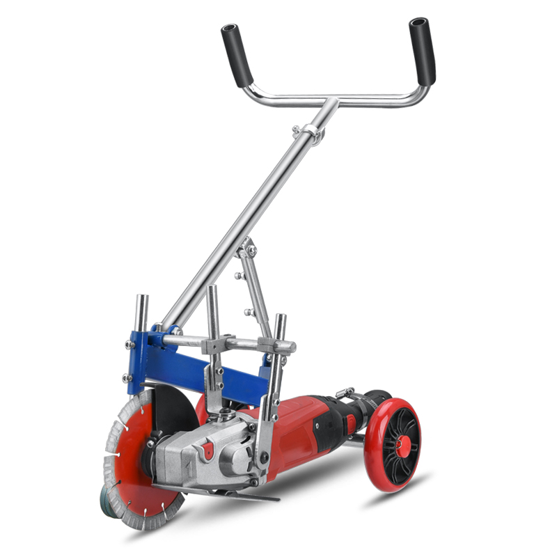 cutting 13cm depth Ground slotting frame cement cutting machine concrete support hand-push road slotting machine hand grinder