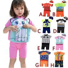 Baby Swimsuit Float-Suit Girls Toddler One-Piece Kids Beach Cap Adjustable Boys