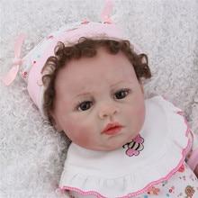 Adorable Babies Reborn Doll 45cm Toddler Baby Bonecas Girl Play House Boneca Bebe Silicona Completo Newborn Training