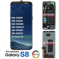 Original LCD For Samsung Galaxy S8 G950 G950F S8 plus G955fd G955F G955 Lcd Display With Touch Screen Digitizer with burn shadow