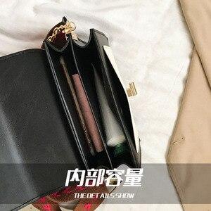 Image 5 - 2020 luxus Handtaschen Vintage Kleine PU Leder Umhängetaschen Für Frauen Schulter Messenger Taschen Kette Designer Weibliche Klappen Geldbörse