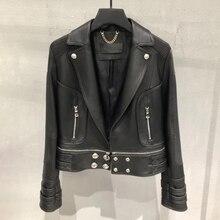 Genuine leather jacket women real leather jacket ladies 2020 new fashion high quality sheepskin coat female