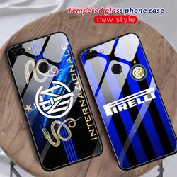 Inter club Phone Case For Huawei Mate 9 10 lite 20Pro&Tempered Glass Back Cover For Honor 7A 8X 9 10 V10